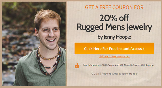 Click here to get 20% off rugged mens jewelry by Authentic Men