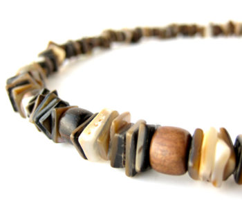 Brown shell necklace by Authentic Men