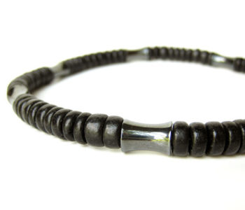 dark matter hematite necklace by Authentic Men