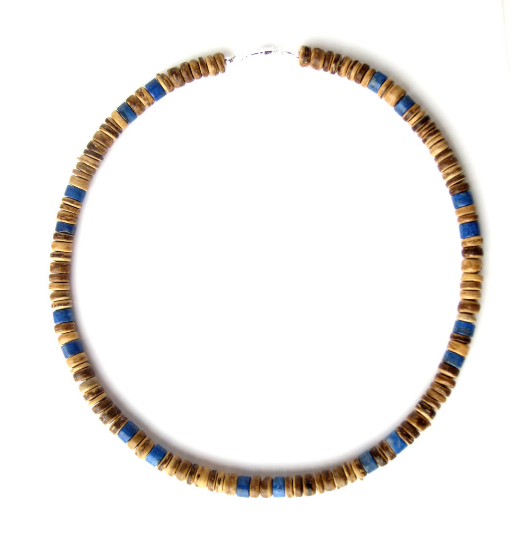 Mens surfer necklace tribal lapis authentic men by for Mens jewelry stores near me