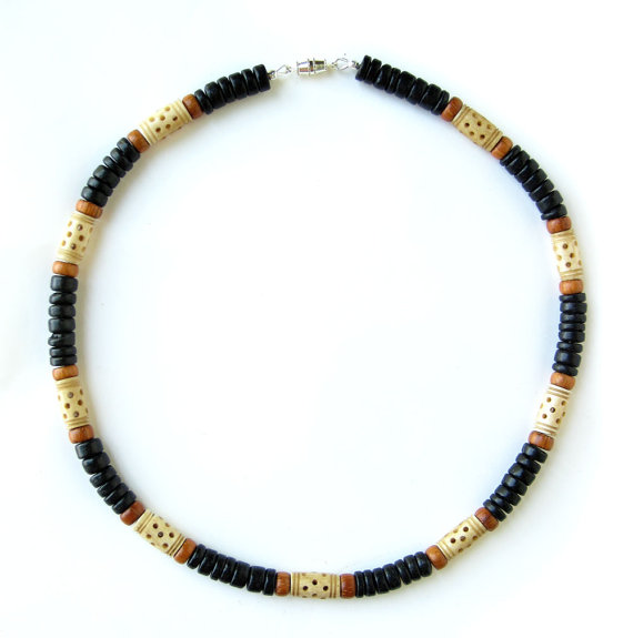 Mens surfer necklace morocco authentic men by jenny hoople for Mens jewelry stores near me