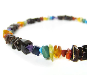 Rainbow mens surfer necklace by Authentic Men