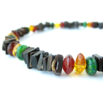 Mens rasta necklace by Jenny Hoople of Authentic Men