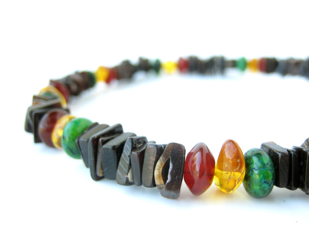 Mens surfer necklace rasta authentic men for Mens jewelry stores near me