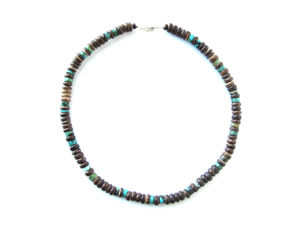 Mens surfer necklace tribal turquoise authentic men for Mens jewelry stores near me